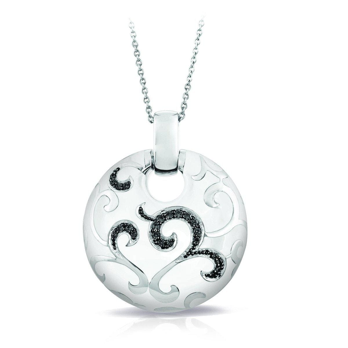 Royale White and Black Pendant-Belle Etoile-Renee Taylor Gallery