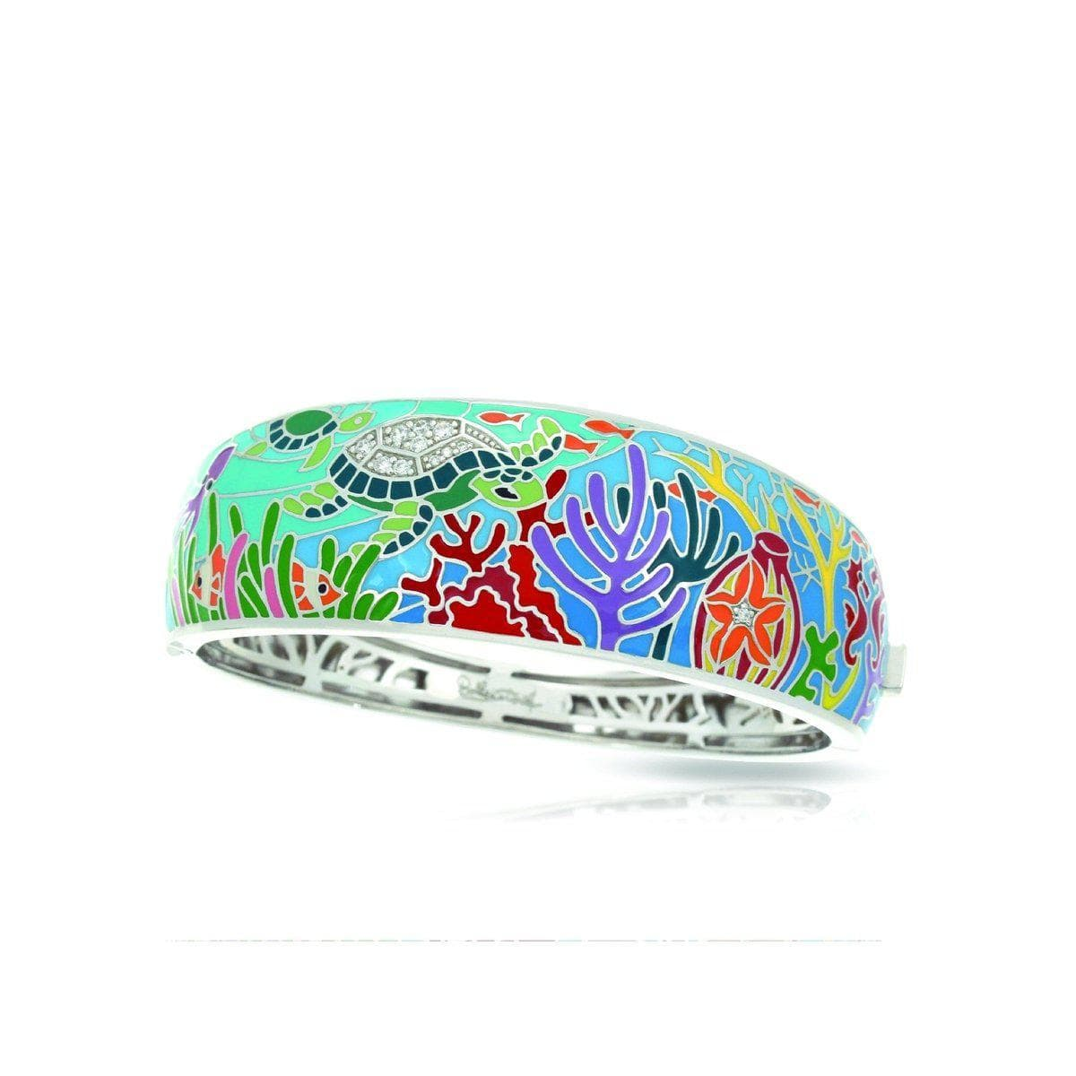 Sea Turtle Aqua Bangle-Belle Etoile-Renee Taylor Gallery