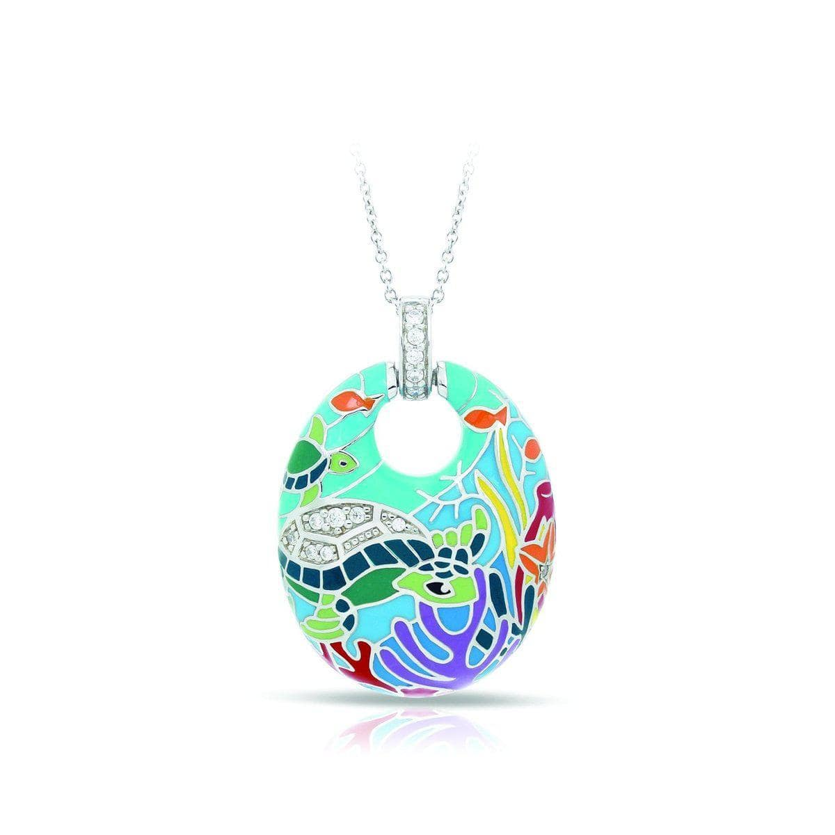 Sea Turtle Aqua Pendant