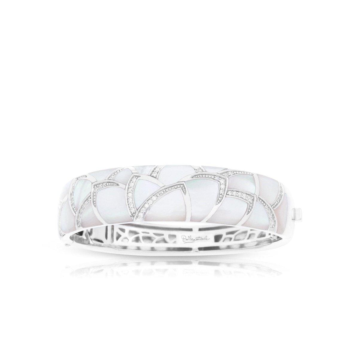 Sirena White Mother-of-Pearl Bangle-Belle Etoile-Renee Taylor Gallery