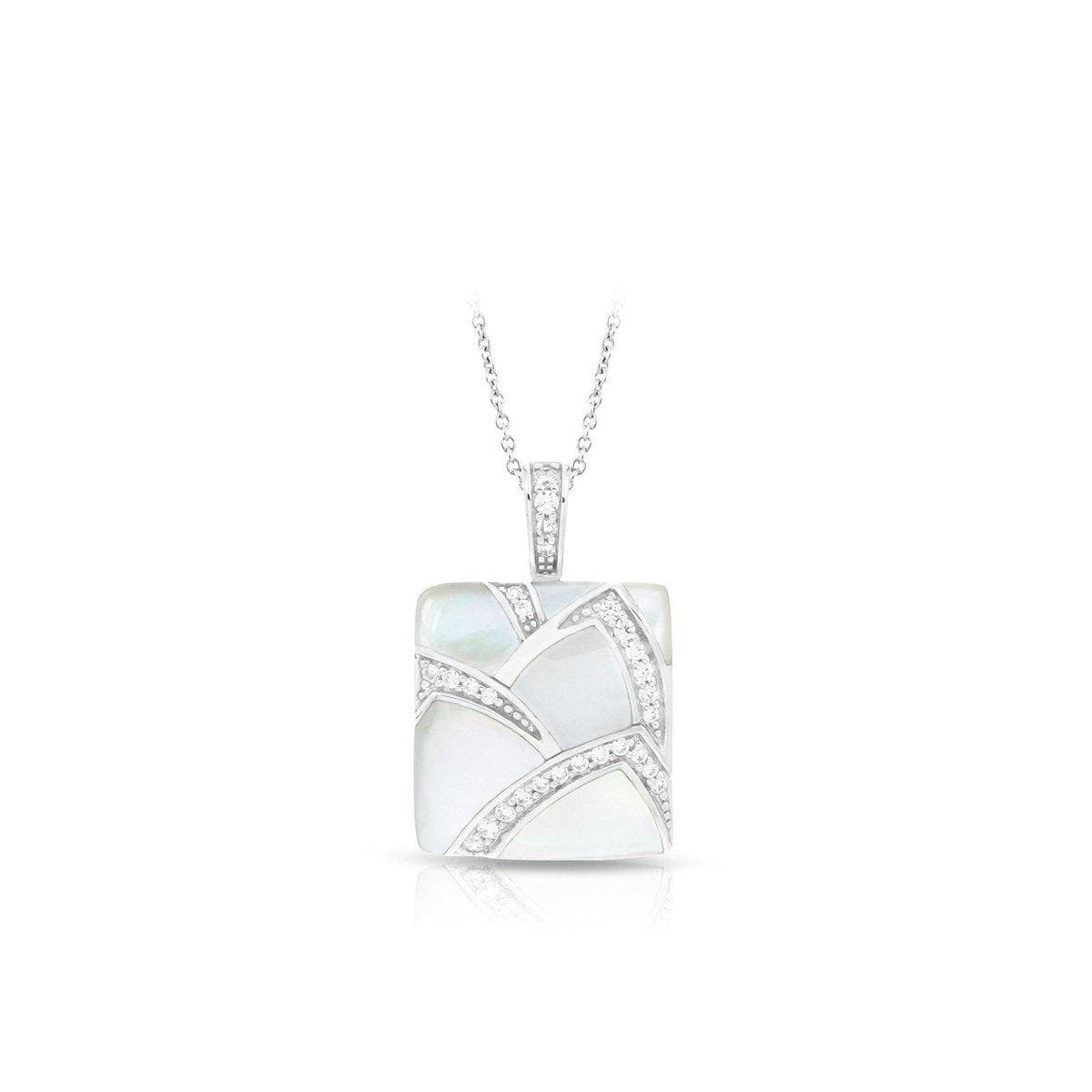 Sirena White Mother of Pearl Pendant-Belle Etoile-Renee Taylor Gallery