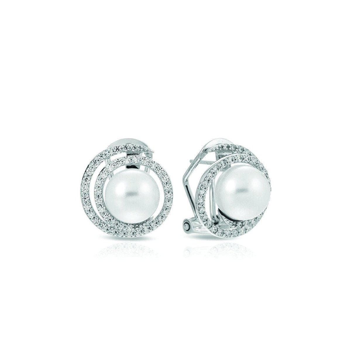 Thea White Earrings