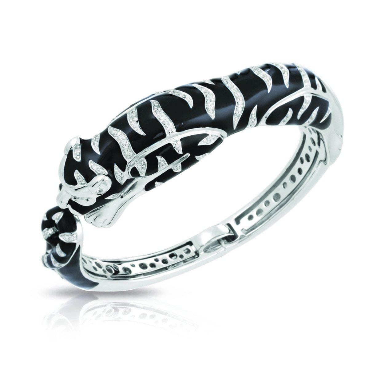 Tigre Black Bangle-Belle Etoile-Renee Taylor Gallery
