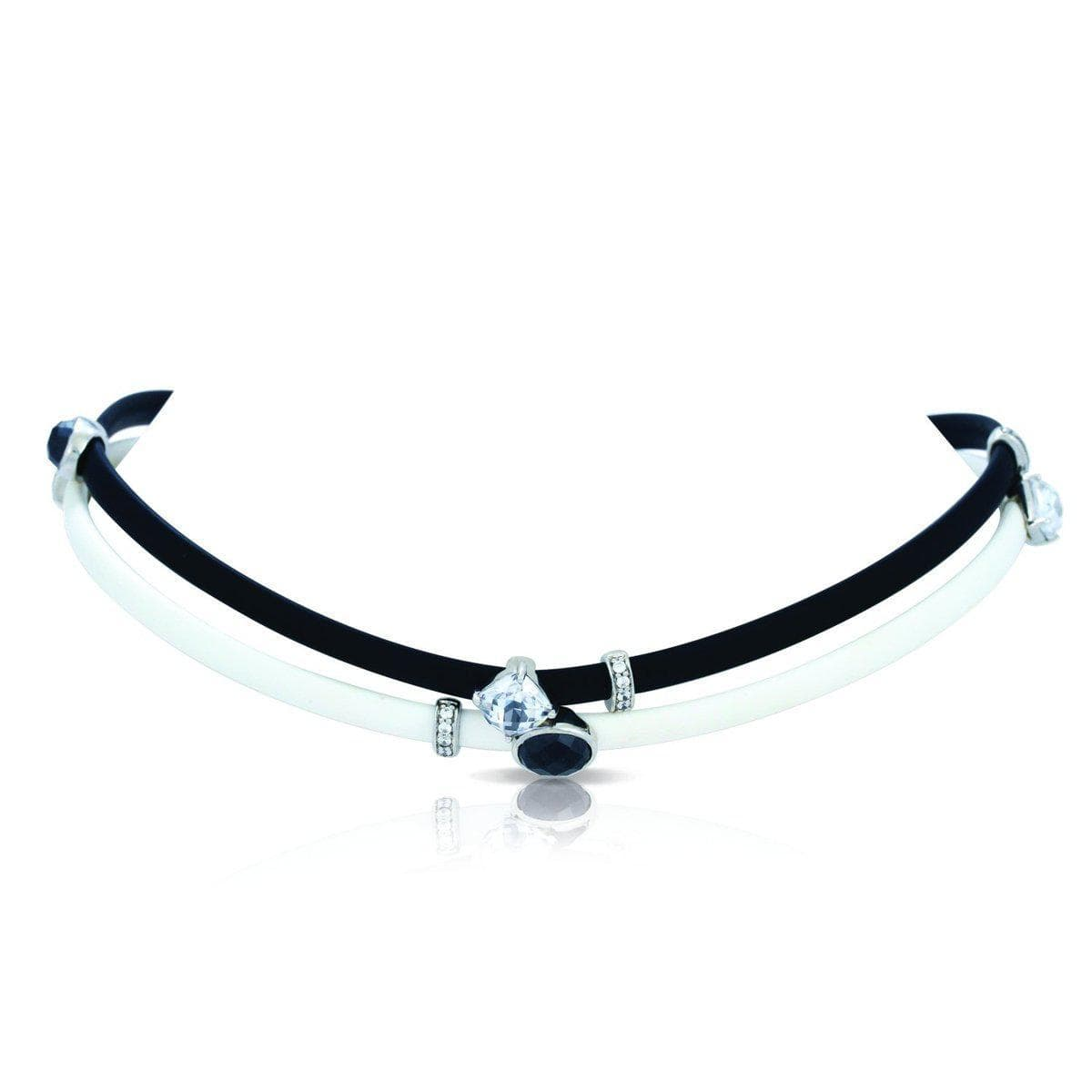 Venezia Black and White Necklace-Belle Etoile-Renee Taylor Gallery
