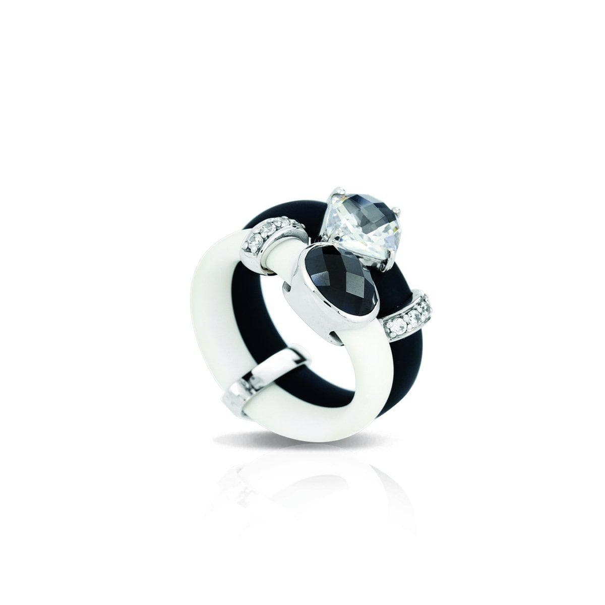 Venezia Black and White Ring-Belle Etoile-Renee Taylor Gallery