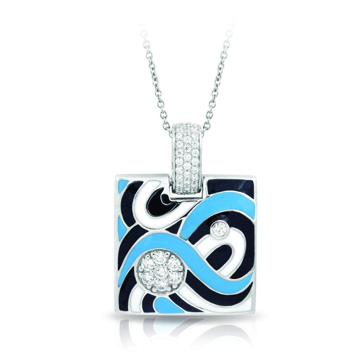 Vortice Black and Blue Pendant-Belle Etoile-Renee Taylor Gallery