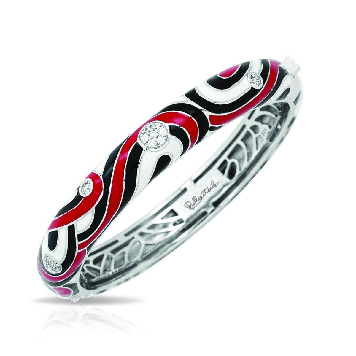 Vortice Black and Red Bangle-Belle Etoile-Renee Taylor Gallery