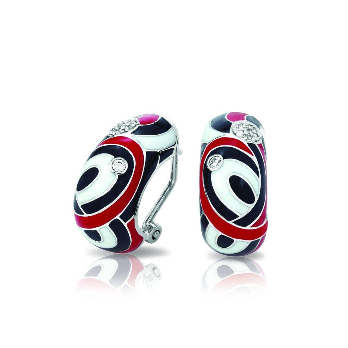 Vortice Black and Red Earrings-Belle Etoile-Renee Taylor Gallery