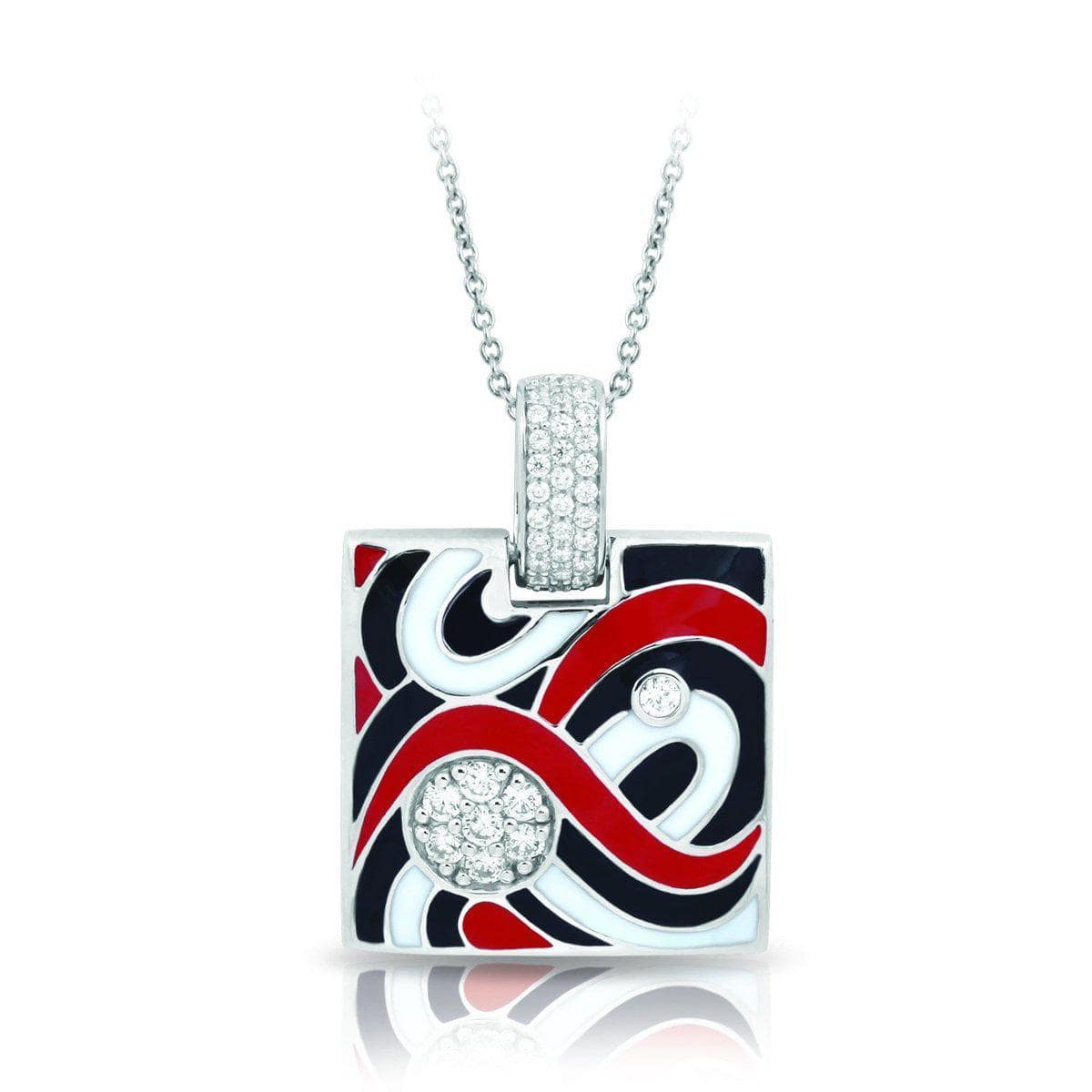 Vortice Black and Red Pendant-Belle Etoile-Renee Taylor Gallery
