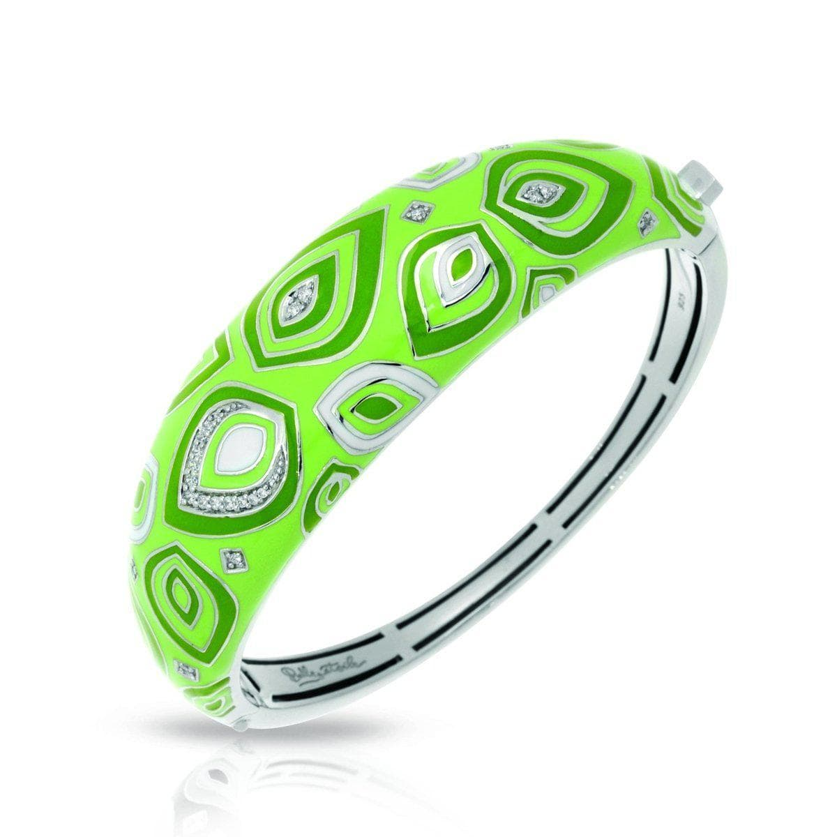 Zen Green Bangle-Belle Etoile-Renee Taylor Gallery