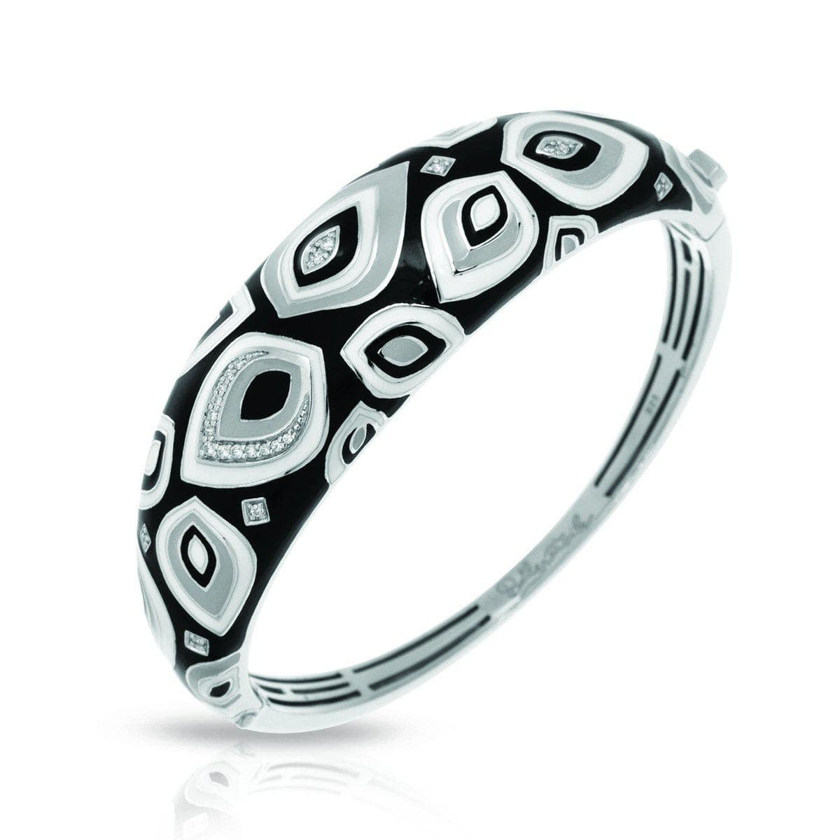 Zen Black and White Bangle-Belle Etoile-Renee Taylor Gallery