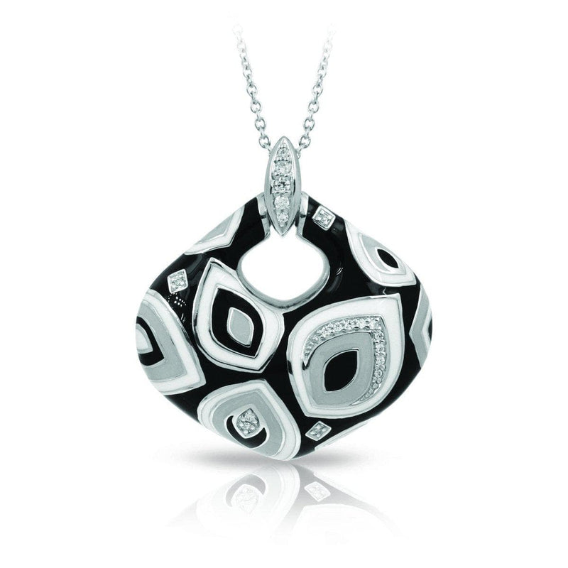 Zen Black and White Pendant-Belle Etoile-Renee Taylor Gallery