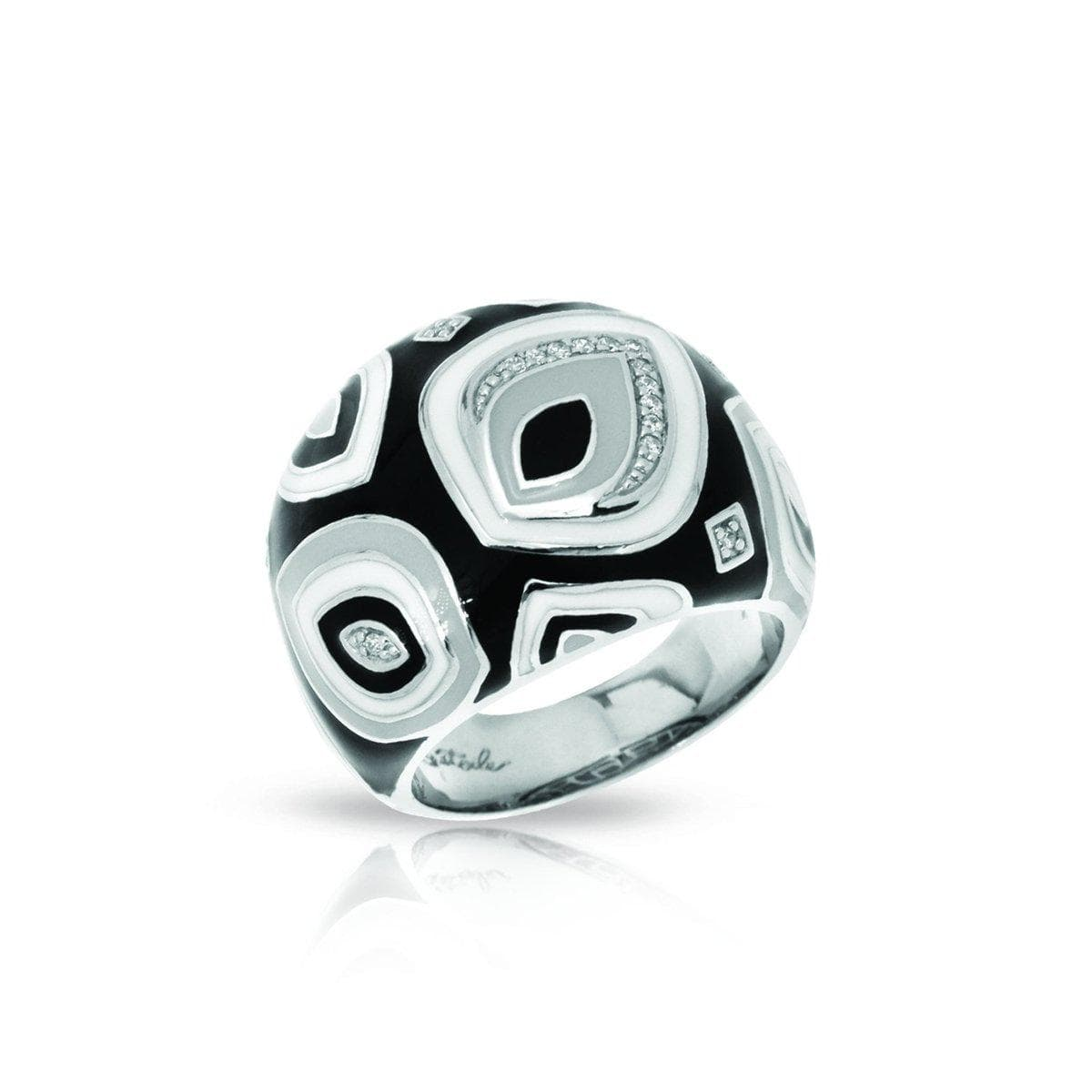 Zen Black and White Ring-Belle Etoile-Renee Taylor Gallery