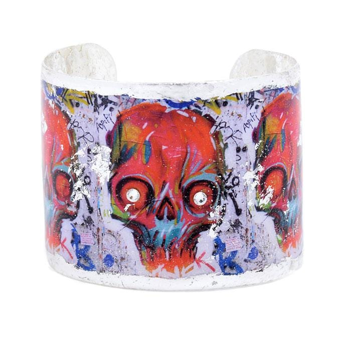 Graffiti Skull Cuff - CA107-Evocateur-Renee Taylor Gallery