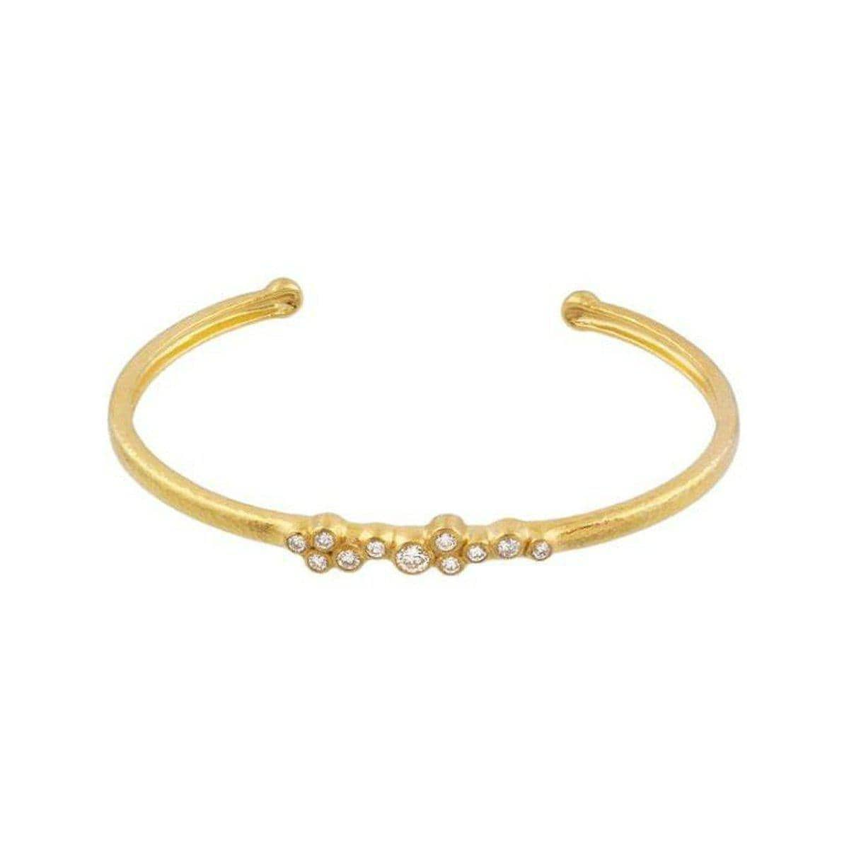 Pointelle 22K Gold White Diamond Bracelet - CB-SCTDI-11DI-NV-GURHAN-Renee Taylor Gallery