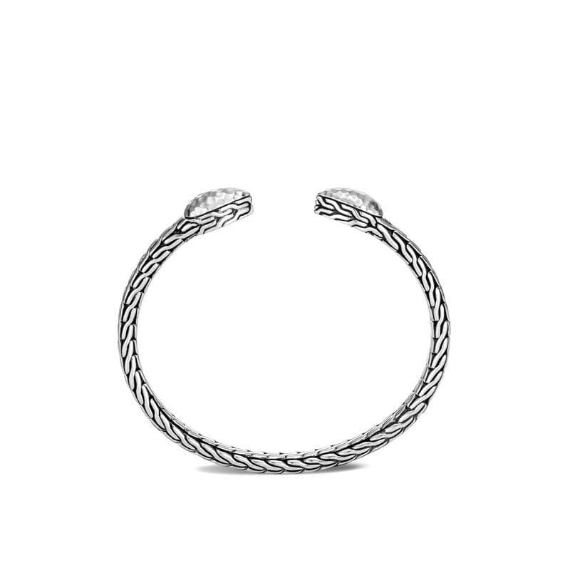 Classic Chain Hammered Flex Bangle - CB90509-John Hardy-Renee Taylor Gallery