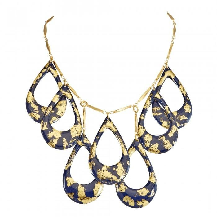 Navy and Gold Athena Necklace - CC200-Evocateur-Renee Taylor Gallery