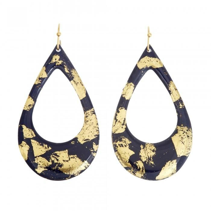 Navy & Gold Athena Earrings - CC400-Evocateur-Renee Taylor Gallery