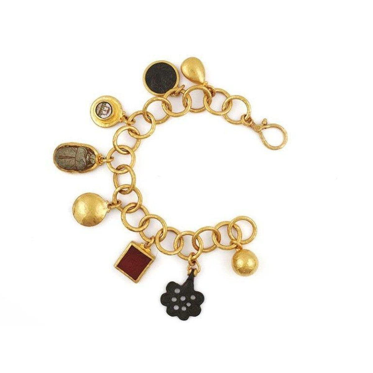 Antiquities 24K Gold Multi Stone Bracelet - CHB-U17858-CCT-GURHAN-Renee Taylor Gallery