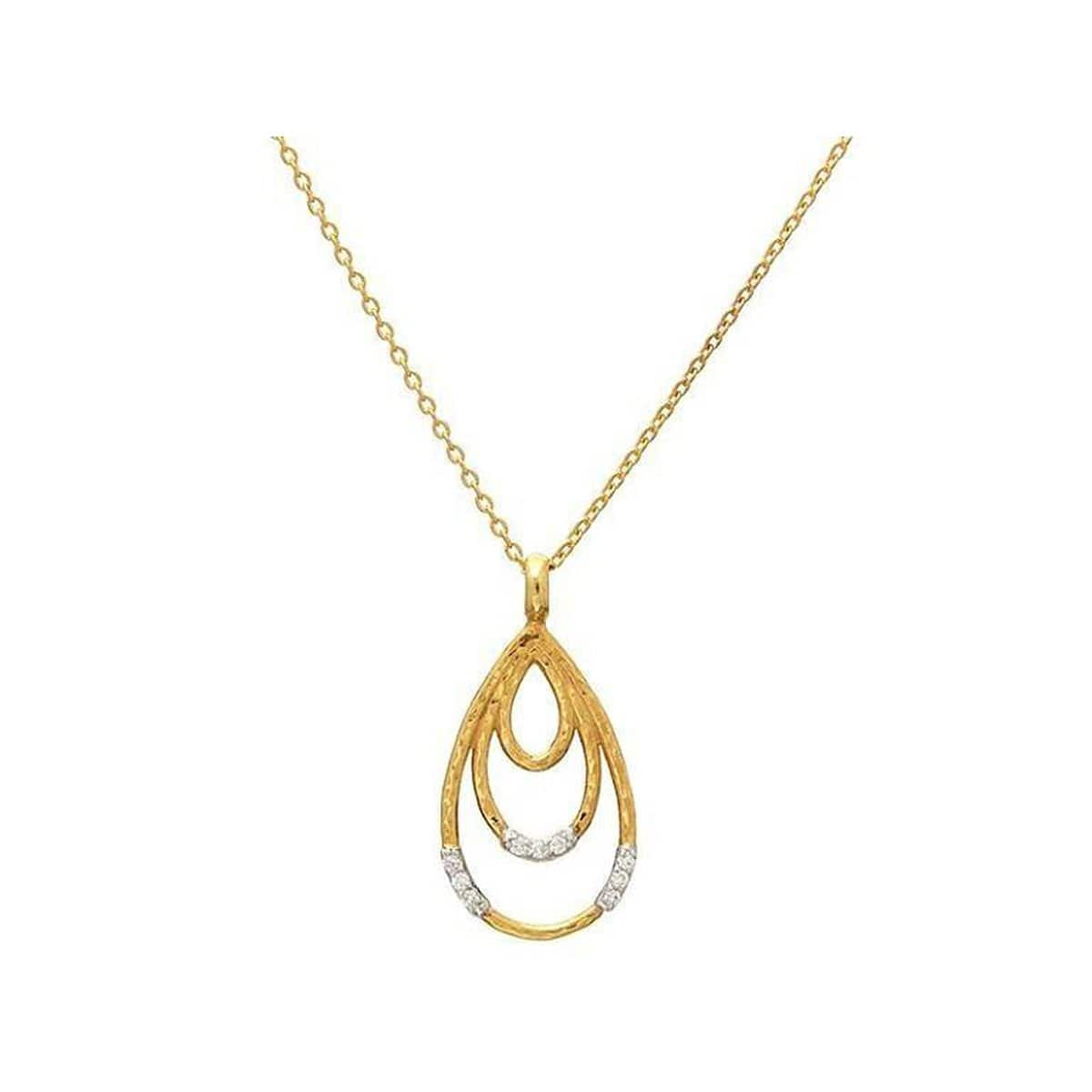 Delicate 24K Gold Diamond Necklace - CHN-3VP3DI-3DR-S-18-GURHAN-Renee Taylor Gallery
