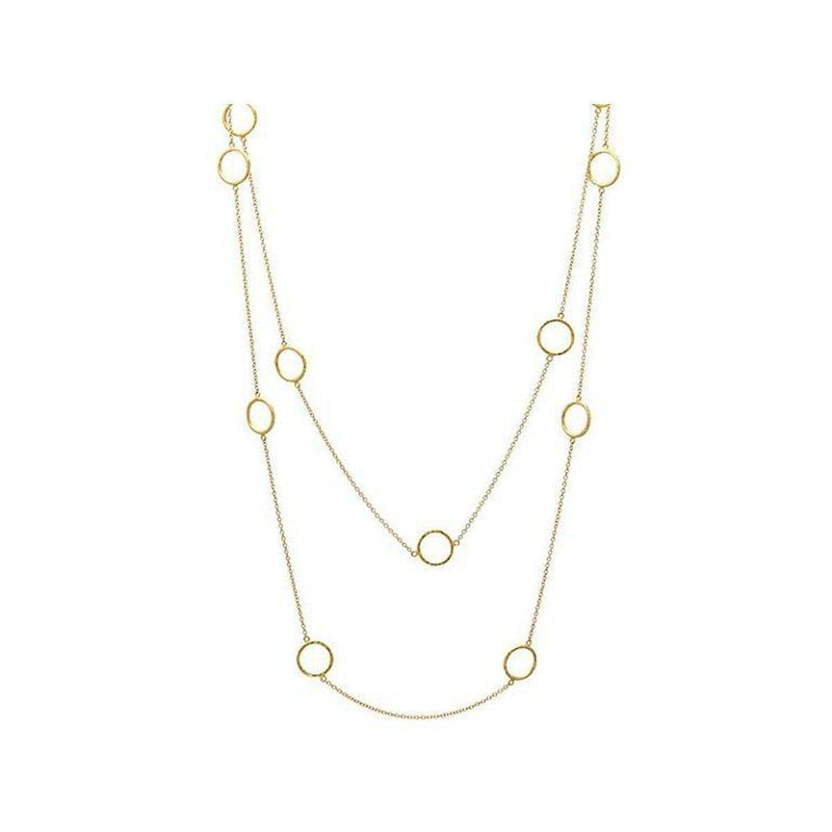 Delicate 22K Gold Necklace - CHN-GPL-11RD14-LST40-GURHAN-Renee Taylor Gallery