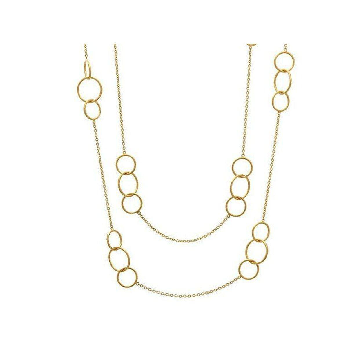 Delicate 22K Gold Necklace - CHN-GPL-8MXRD-LST-36-GURHAN-Renee Taylor Gallery