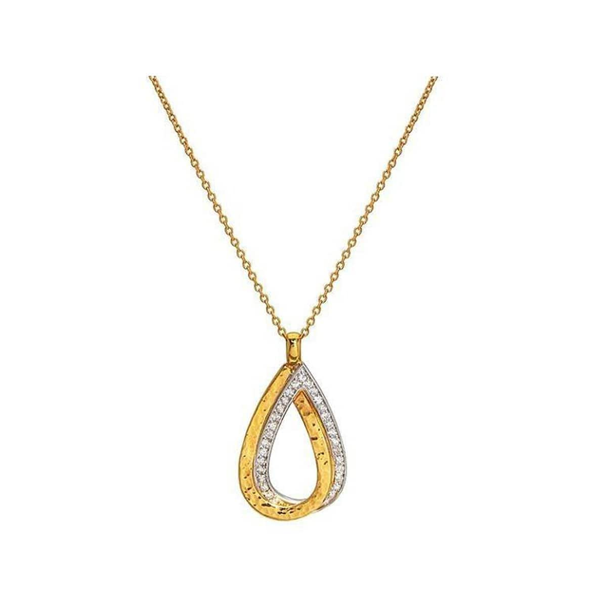 Duet 22K Gold Diamond Necklace - CHN-INT-2DR-H-28DI-GURHAN-Renee Taylor Gallery