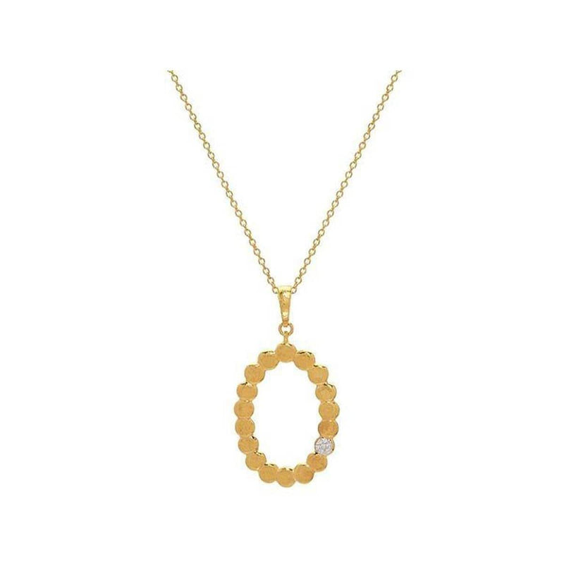 Spell 22K Gold Diamond Necklace - CHN-PBL-OVOH-1DIP-GURHAN-Renee Taylor Gallery