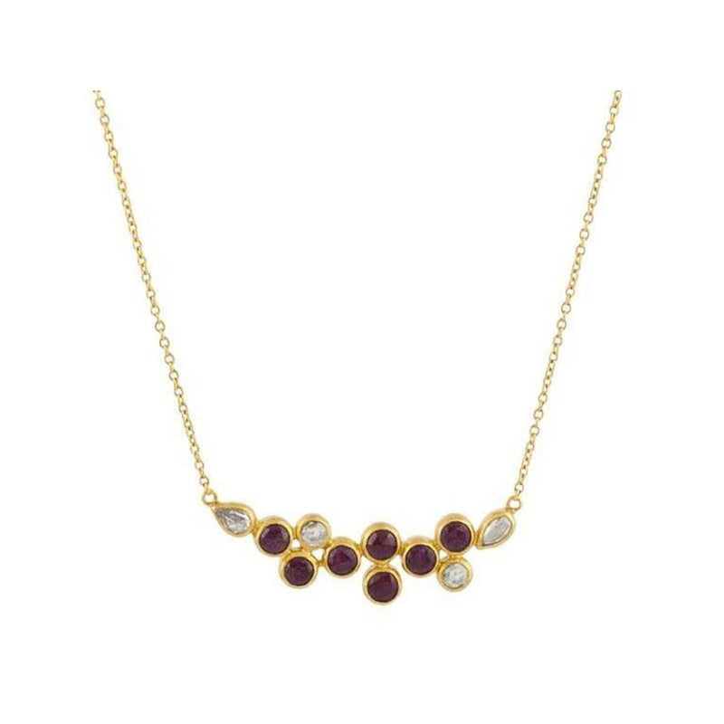 Pointelle Hue 24K Gold Ruby Diamond Necklace - CHN-U21914-RUDI-GURHAN-Renee Taylor Gallery