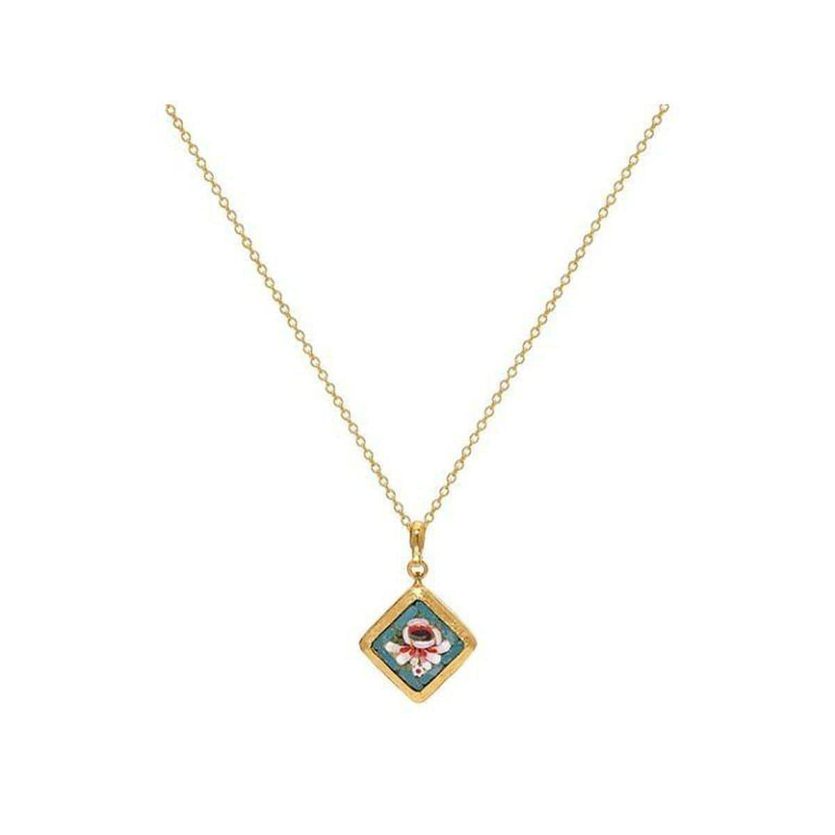 Antiquitites 24K Gold Mosaic Necklace - CHN-U23149-MZ-GURHAN-Renee Taylor Gallery