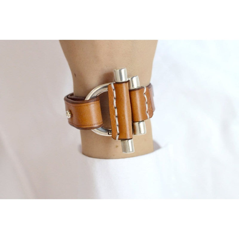 Sterling Silver Plated Leather Bracelet - B0049 MCA00-CXC-Renee Taylor Gallery
