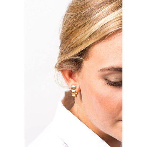Gold Plated Earrings - E0030 ORO00-CXC-Renee Taylor Gallery