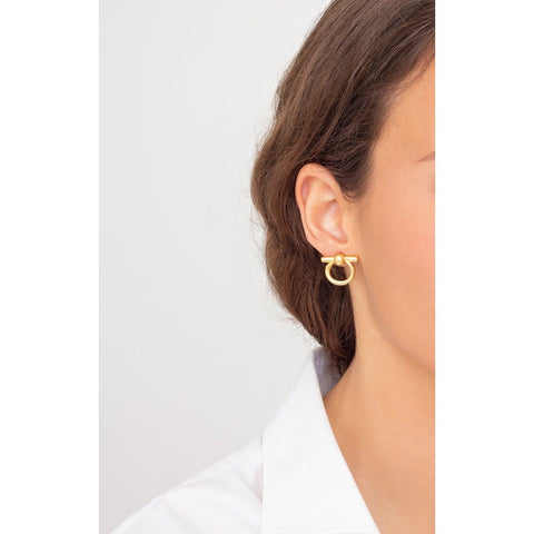 Gold Plated Brass Earrings - E0046 ORO00-CXC-Renee Taylor Gallery