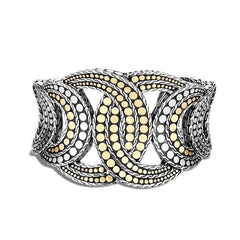Dot 18k Bonded Yellow Gold Cuff - CZ30063-John Hardy-Renee Taylor Gallery