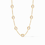 Calypso Delicate Station Gold Clear Crystal Necklace - N354GRC00-Julie Vos-Renee Taylor Gallery