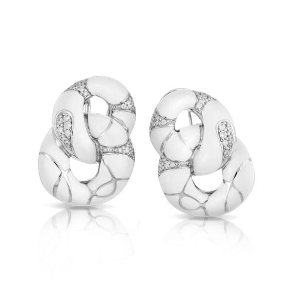 Catena Sterling Silver White Earring-Belle Etoile-Renee Taylor Gallery