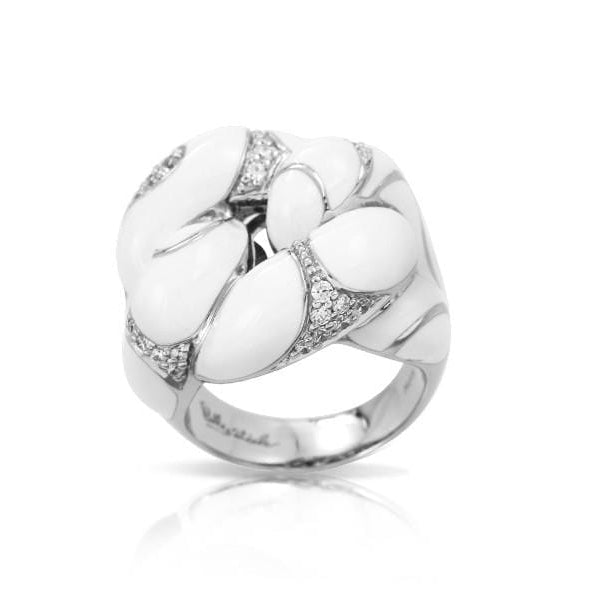 Catena Sterling Silver White Ring-Belle Etoile-Renee Taylor Gallery