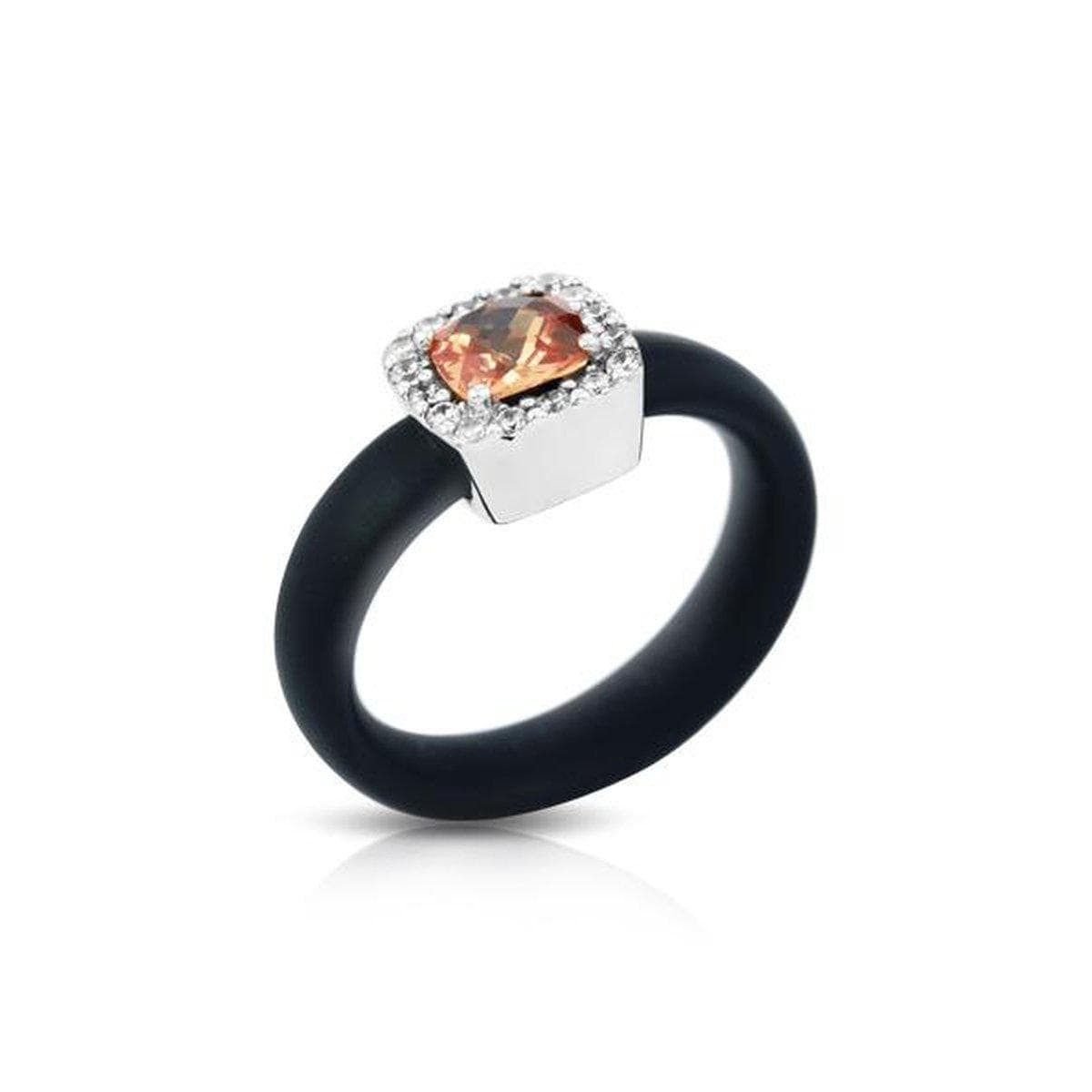 Diana Black and Champagne Ring-Belle Etoile-Renee Taylor Gallery