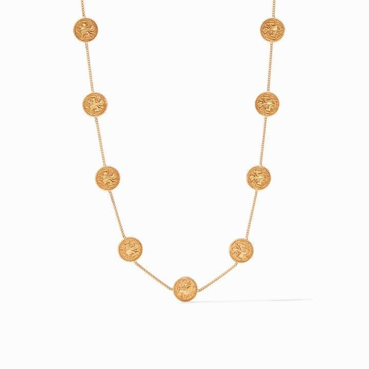Coin Demi Station Gold Cz Necklace - N331GCZ00-Julie Vos-Renee Taylor Gallery