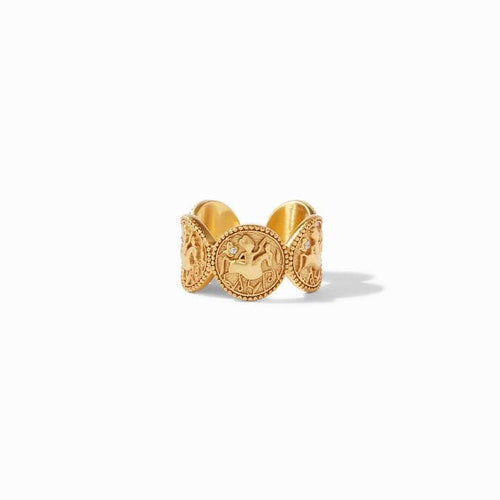 Coin Gold Cz Ring - R143GCZ-Julie Vos-Renee Taylor Gallery