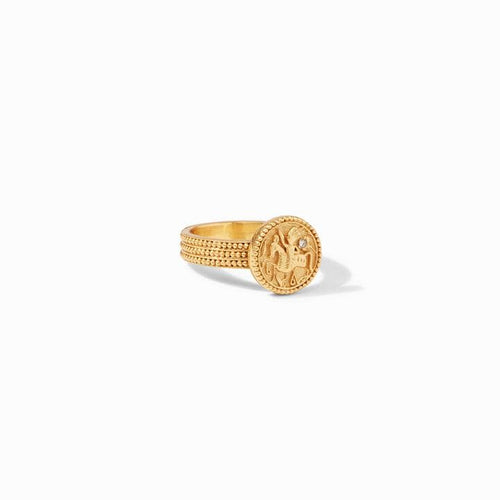 Coin Midi White Cz Ring - R159GCZ-Julie Vos-Renee Taylor Gallery