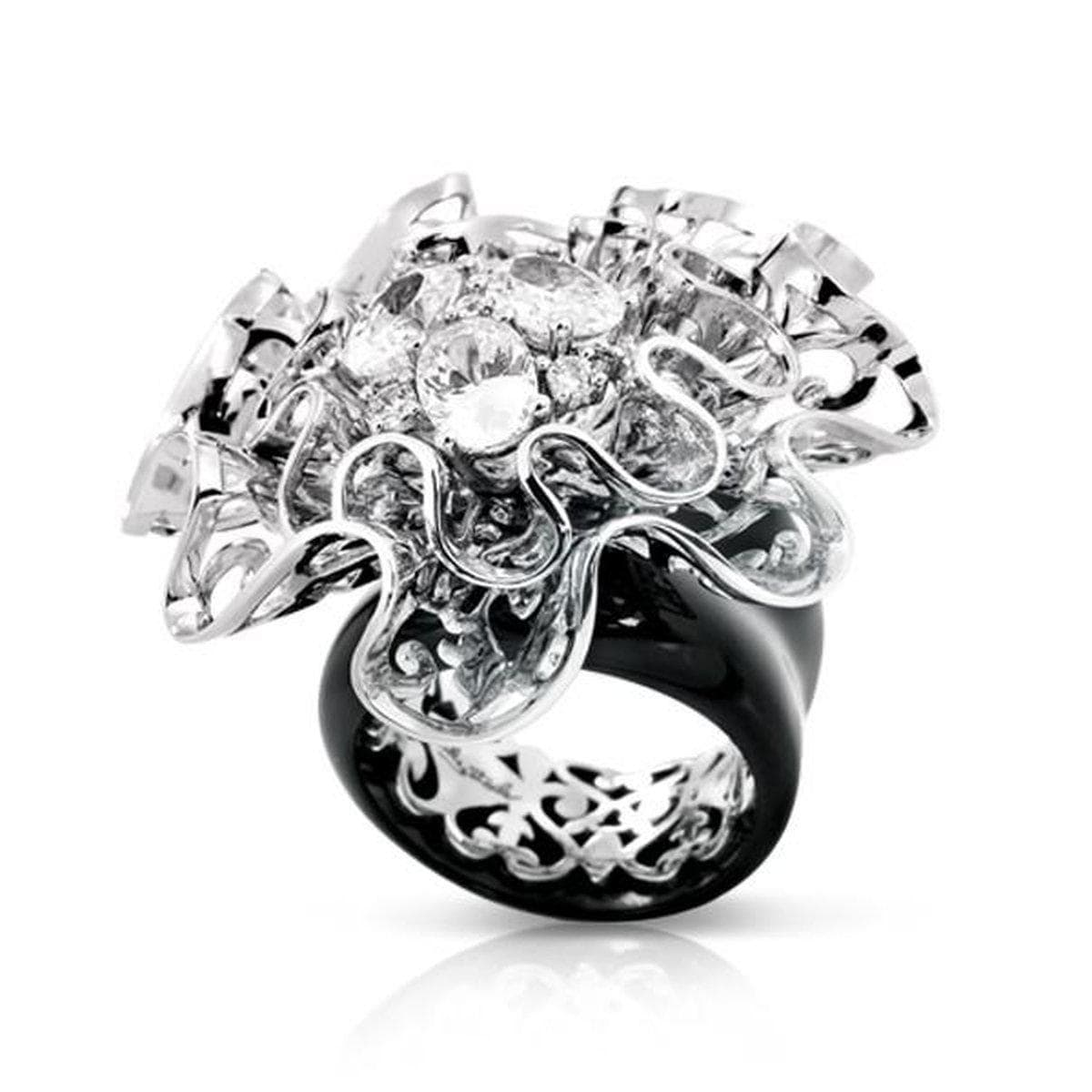 Corsage Black Ring-Belle Etoile-Renee Taylor Gallery