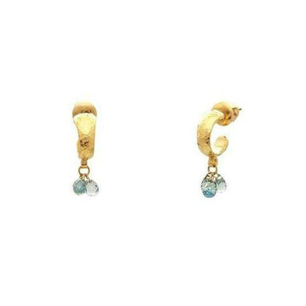 Delicate Hue 24K Gold Sapphire Earrings - DE957-FSB-3MX-BG-GURHAN-Renee Taylor Gallery