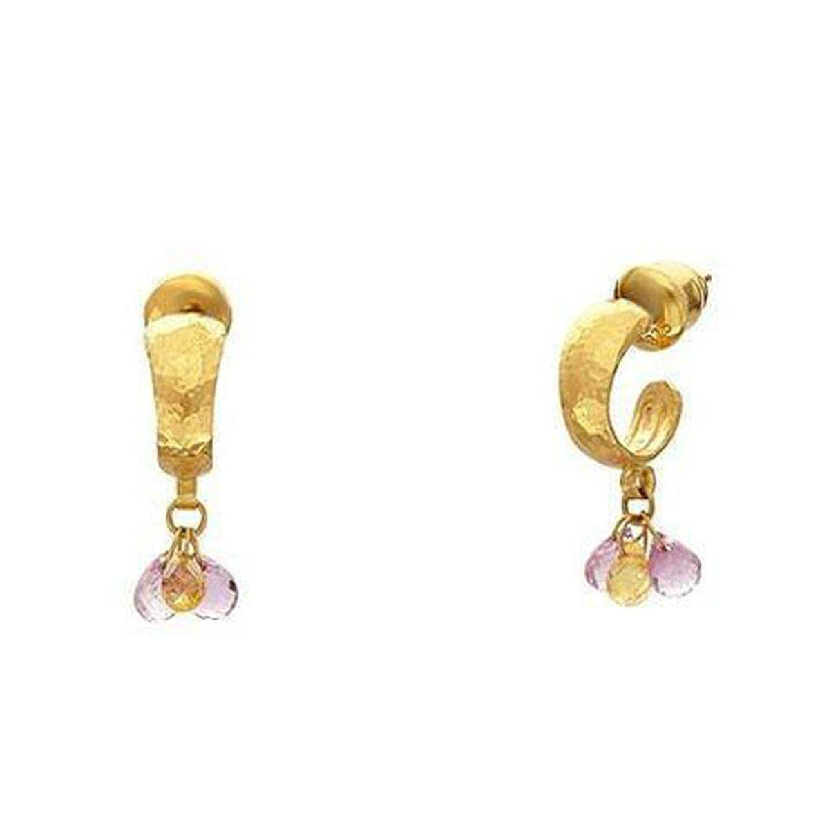Delicate Hue 24K Gold Sapphire Mix Earrings - DE957-FSB-3MX-PY-GURHAN-Renee Taylor Gallery