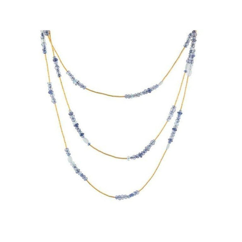 Delicate Hue 24K Gold Multi Necklace - DZN-MSMB-L-DBL-49-GURHAN-Renee Taylor Gallery