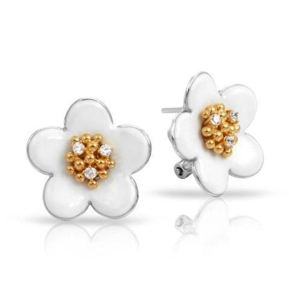 Daisy Chain White Earrings-Belle Etoile-Renee Taylor Gallery