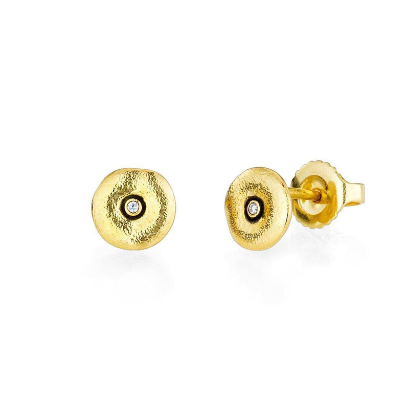 18K Orchard Diamond Extra Small Stud Earrings - E-128-Alex Sepkus-Renee Taylor Gallery