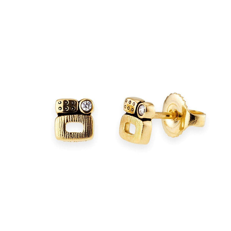 18K Little Windows Diamond Stud Earring - E-170D-Alex Sepkus-Renee Taylor Gallery