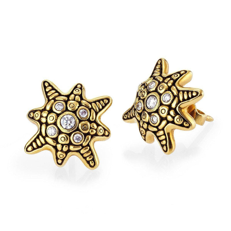 18K Star Diamond Stud Earrings - E-173D-Alex Sepkus-Renee Taylor Gallery