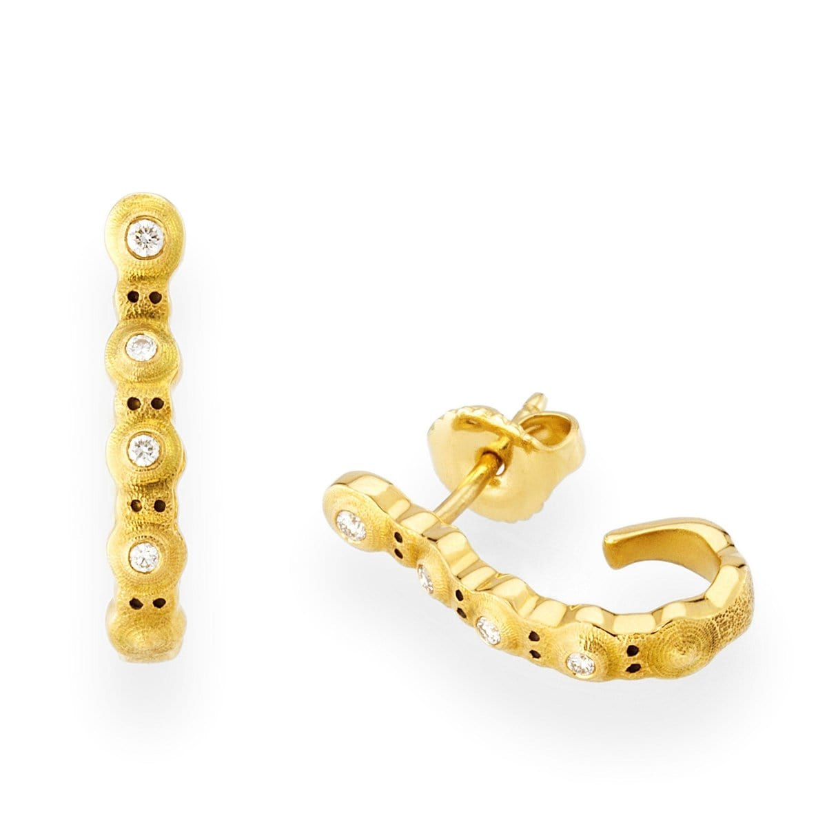 18K Four Peas Diamond Earrings - E-220D